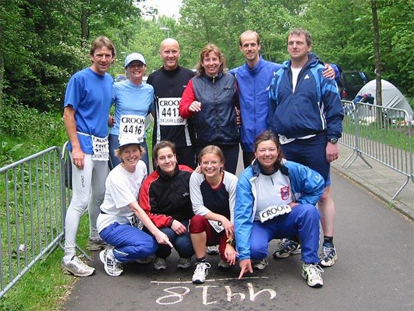 Team auf der Laufstrecke