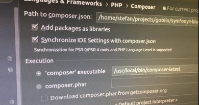 Composer in PhpStorm mit Docker Remote PHP Interpreter nutzen
